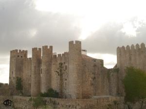 Ruinas del antiguo castillo de Obidos.