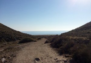 Acceso a la Playa de los Muertos.