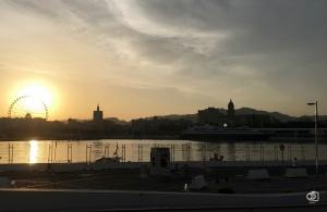 Vistas desde el puerto de Málaga.