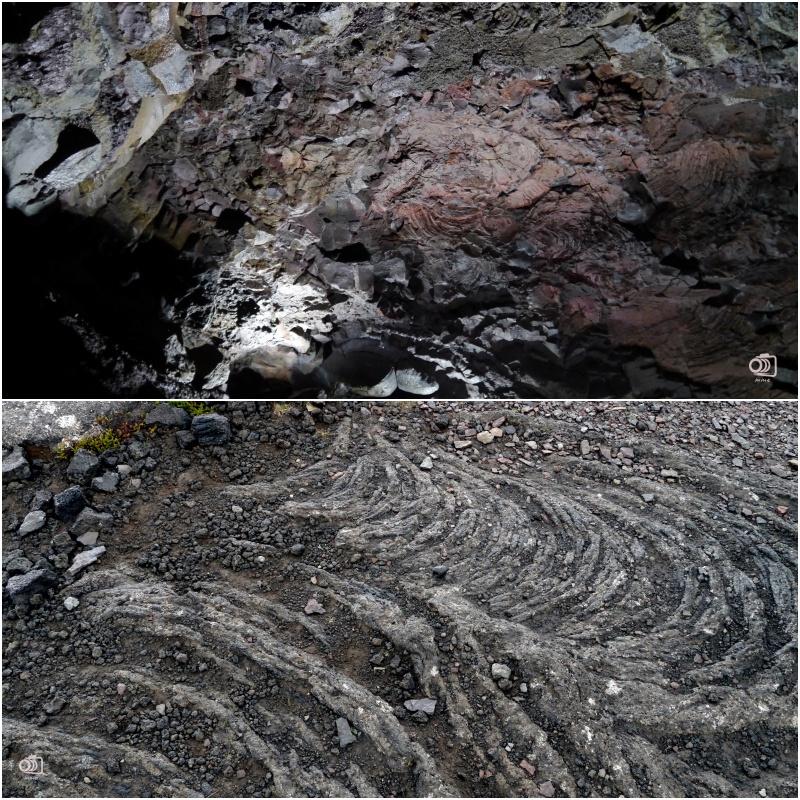 Lava Pahoehoe y Aa (Víðgelmir).